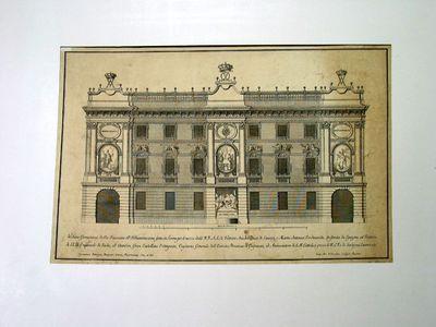 Facciata del palazzo di Emanuele de Sada (illuminata per il matrimonio della Infanta di Spagna con Vittorio Amedeo di Savoia)