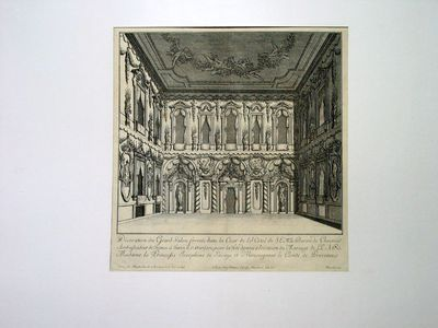 Salone del palazzo del Barone di Choiseuil (decorato per il matrimonio della Principessa Giuseppina di Savoia con il Conte di Provenza)