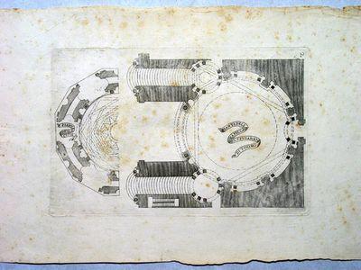 Pianta della Cappella del Santo Sudario di Torino e pianta della cupola