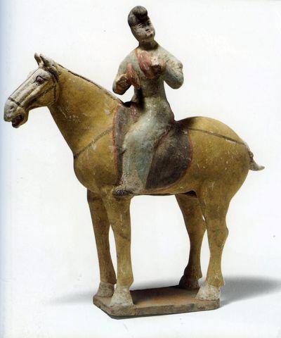 Suonatore di cimbali a cavallo