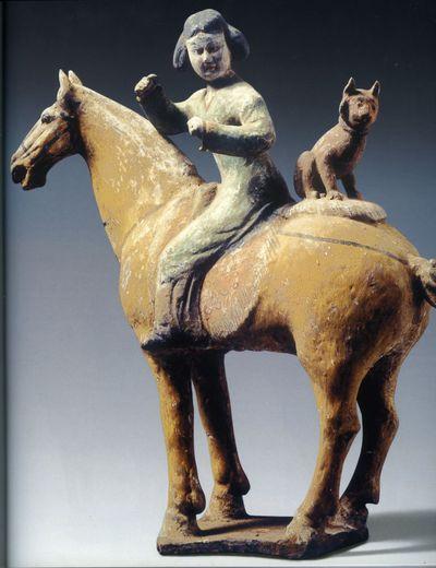 Cavallerizza con animale