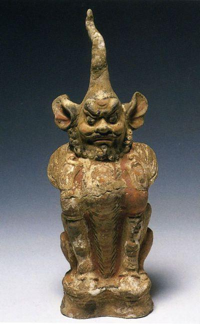 Zhenmushou/ creatura protettrice della tomba dal volto barbuto