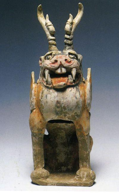 Zhenmushou/ creatura protettrice della tomba a muso animale