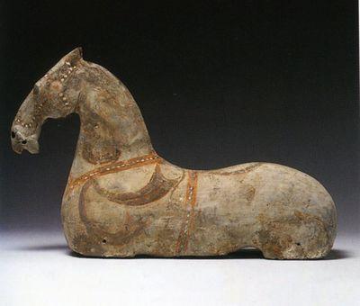 Cavallo con motivi di redini e nastri