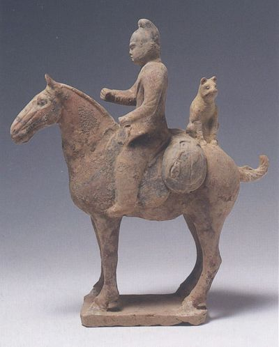 Cavaliere con animale