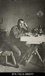 Vene 33.Jalaväediviisi 131.Tiraspoli polgu ohvitser lipnik                      Kljošin.