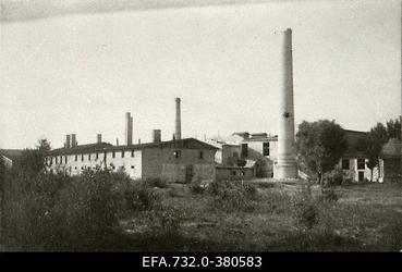 Lahingutegevuse käigus purustatud kipsitööstuse hooned Kurtenhofi (Kurtu                      muiža,Salaspils) raudteejaama ligidal
