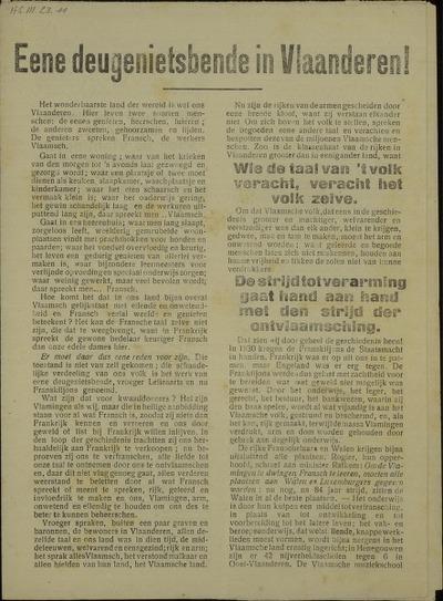 Eene deugenietsbende in Vlaanderen!