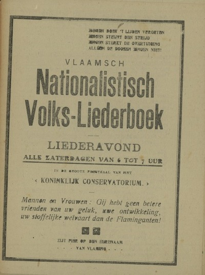 Vlaams nationalistisch volks-liederboek