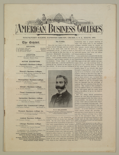 American business colleges : columbian bulletin