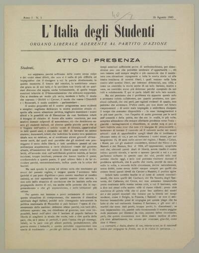 L'Italia degli studenti