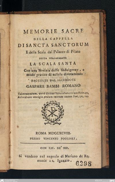 Raccolta di n. 40 vedute antiche e moderne della città di Roma e sue vicinanze incise da Morel, Acquaroni, Parboni, ed altri celebri bulini
