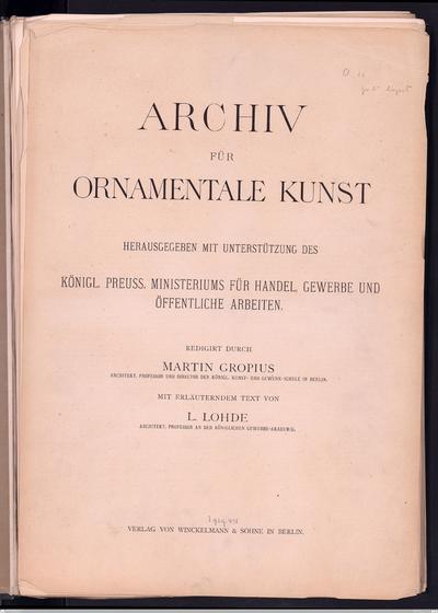 Denkmäler der alten Kunst nach der Auswahl und Anordnung von C. O. MüllerErster Band