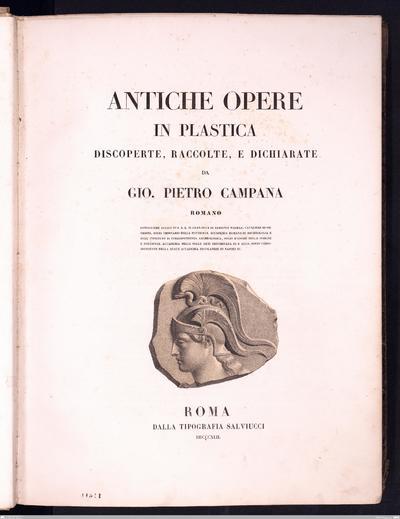 Antiquités etrusques, grecques et romaines tirées du cabinet de M. Hamilton envoyé extraordinaire de S.M. Britannique á la court de NaplesTom. I