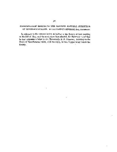 Communication regarding the proposed National Exhibition of Scottish Portraits., Volume 1, 299-301