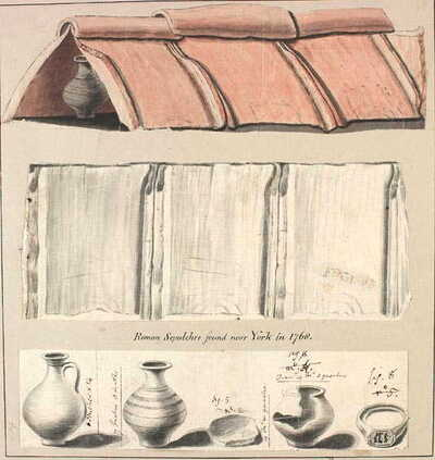 Roman tile tomb from York