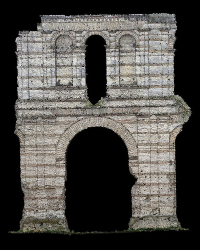 3d models of  wall 2 of the Gallien amphitheater