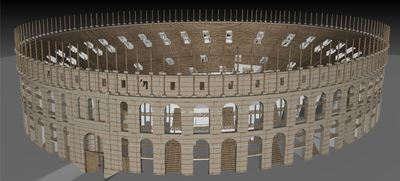 3d models of the Gallien amphitheater