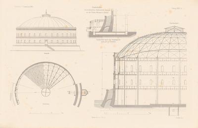 Städtische Gasanstalt, Berlin. (Aus: Atlas zur Zeitschrift für Bauwesen, hrsg. v. F. Endell, Jg. 26, 1876.)