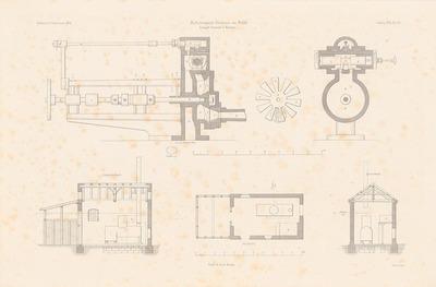 Nebelsignal-Station, Bülk. (Aus: Atlas zur Zeitschrift für Bauwesen, hrsg. v. F. Endell, Jg. 26, 1876.)