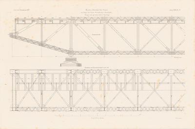 Warthe-Brücke, Posen. (Aus: Atlas zur Zeitschrift für Bauwesen, hrsg. v. F. Endell, Jg. 27, 1877.)