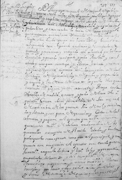 Obligación de pago a José de Rivilla y Bustamante