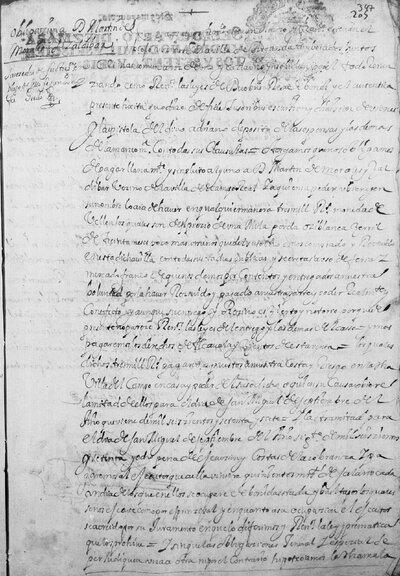 Obligación de pago a Martín Morales y Zaldívar