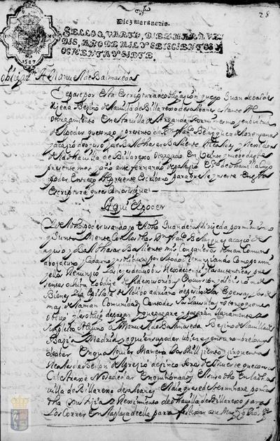 Obligación de pago a Manuel de Balmaseda por el precio de cinco toros de muerte para festejar a su majestad en Villarejo de Salvanés