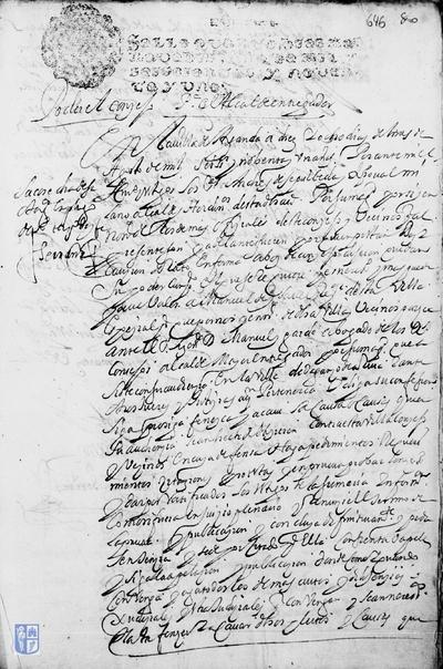 Poder a Manuel de Isabel para que comparezca ante el abogado de los reales consejos y haga requerimientos y pedimentos