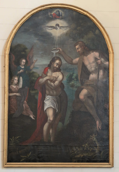 Het doopsel van Christus door Johannes de Doper