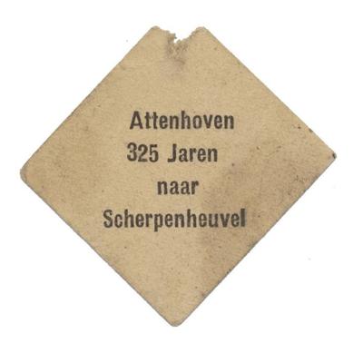 aandenken 325ste bedevaart Attenhoven-Scherpenheuvel
