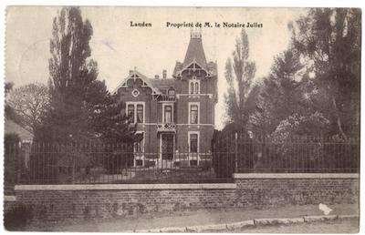 Landen villa-kasteel Propiété de M. le Notaire Jullet