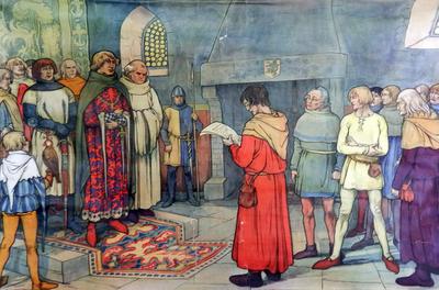 33. Robrecht van Bethune ontvangt een afvaardeiging van misnoegde ambachtslieden