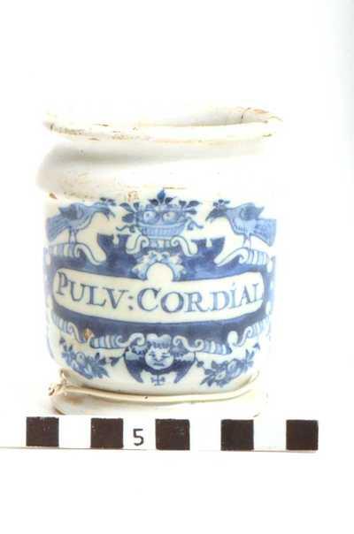 Delfts blauwe apothekerspot; PULV : CORDIAL
