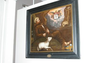Heilige Franciscus van Assisi in de grot