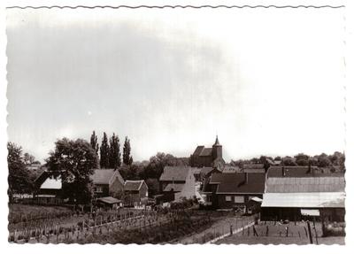 Neerlanden, zicht op dorp, panorama