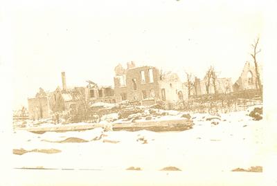 Effet de neige à Caeskerke (Dixmude), février 1916.