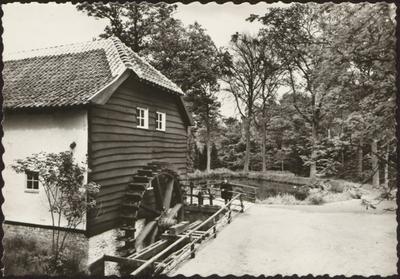 Domein Bokrijk. Openluchtmuseum. Watermolen uit Lummen. Gangwerk van de Rooierheide uit Gruitrode