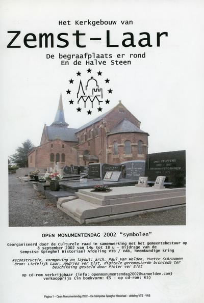 Het kerkgebouw van Zemst-Laar : de begraafplaats er rond en De Halve Steen