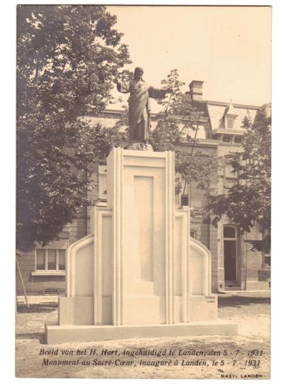 Landen Beeld van het Heilig Hart, Monument au Sacré Coeur
