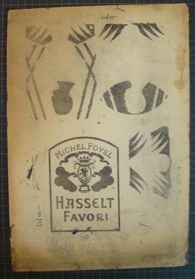 Drukplaat voor litho buiketiket 'Michel Fovel, Hasselt Favori', voor Fovel, Brussel