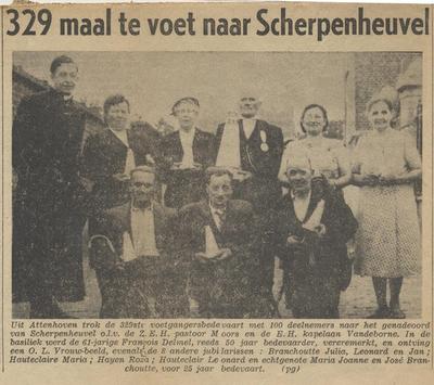 Krantenartikel 329ste bedevaart van Attenhoven naar Scherpenheuvel