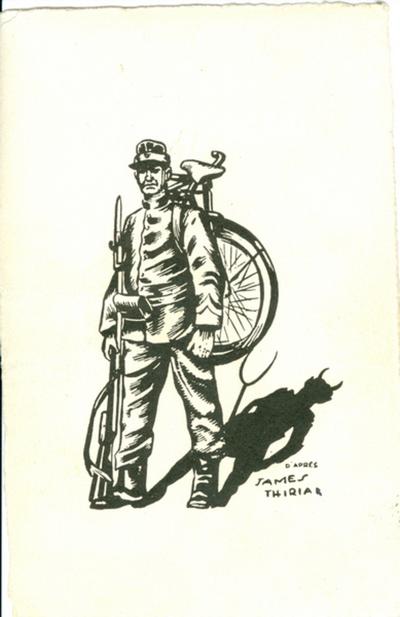 Pentekening 'Zwarte Duivels'.