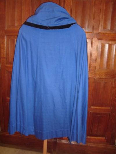 blauwe Mariamantel