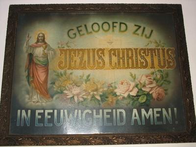 Devotieprenten: Geloofd zij Jezus Christus en God ziet mij ...