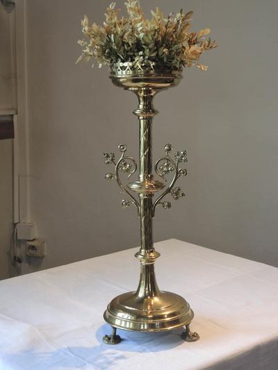 altaarkandelaars, ornament druivenrank