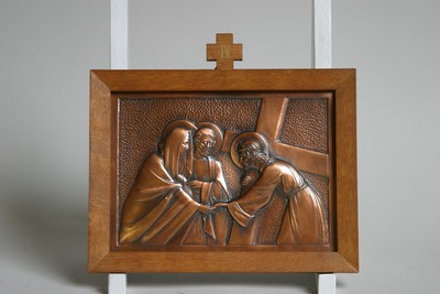 Kruisweg statie 4 : Christus ontmoet zijn moeder