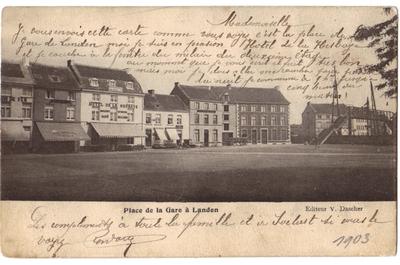 Landen Stationsplein - Place de la Gare à Landen