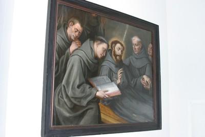 Heilige Franciscus van Assisi op zijn sterfbed