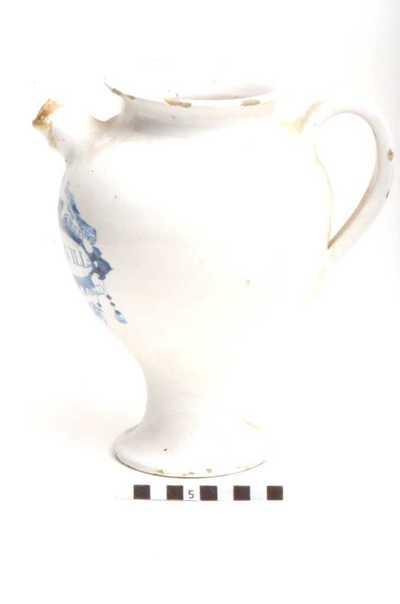 Delfts blauwe apothekerspot; OXIMEL.SQVILL: